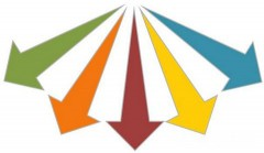 different-direction-arrow-shapes-powerpoint